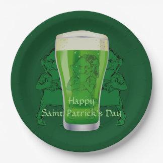 Party 9 Kobold-grünes Bier-St. Patricks Tages Pappteller