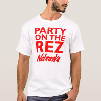 Party auf dem Rez - Nebraska-Shirt T-Shirt