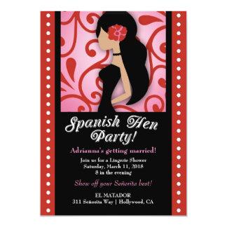 Party der Henne-311-Spanish 12,7 X 17,8 Cm Einladungskarte