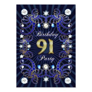 Party des Geburtstages 91sr laden mit Massen der Individuelle Ankündigungskarte