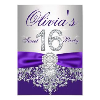 Party des lila Diamant-lila Bonbon-16 11,4 X 15,9 Cm Einladungskarte