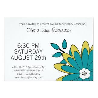 Party des Mod-Blumen-Bonbon-16 11,4 X 15,9 Cm Einladungskarte