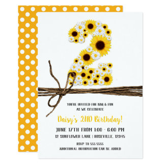 Party des Sonnenblume-u. der Gänseblümchen-ZWEI 2. Karte
