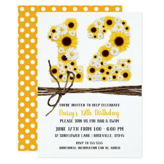 Party des Sonnenblume-u. der Gänseblümchen-ZWÖLF Karte