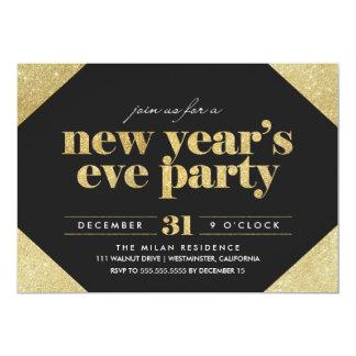 Party Einladung des Glitter-Sylvesterabends