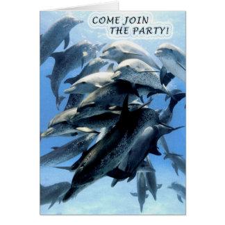 Party Einladung Mitteilungskarte