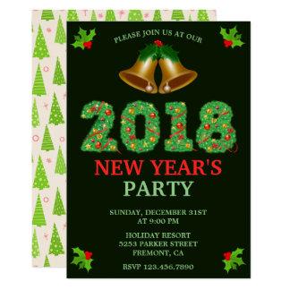 Party Einladung Sylvesterabends Klingel-Bell 2018