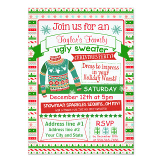 Party Einladungs-Karte der Weihnachten4x6 11,4 X 15,9 Cm Einladungskarte
