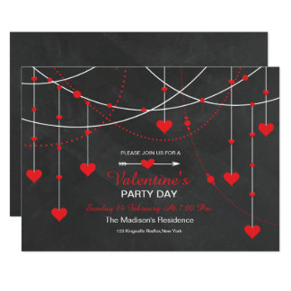 Party Einladungs-Karte Tafelvalentines Tages Karte