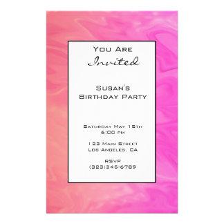 Party Einladungs-rosa orange Beschaffenheit Flyer