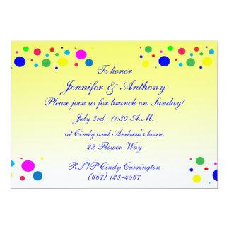 Party färbt HochzeitBrunch 12,7 X 17,8 Cm Einladungskarte