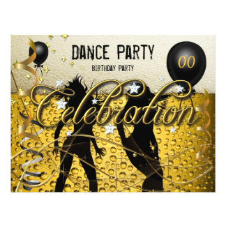 Party-Flyer-Tanz-Party-Geburtstags-Bier-Feier 21,6 X 27,9 Cm Flyer