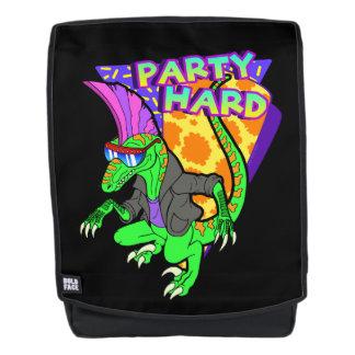 Party-harter Dinosaurier-Raubvogel 3 Tanzen Rucksack