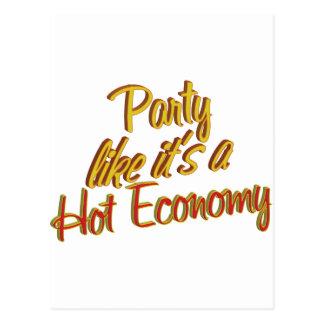 Party-heiße Wirtschaft Postkarte