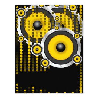 Party-Hintergrund 10,8 X 14 Cm Einladungskarte