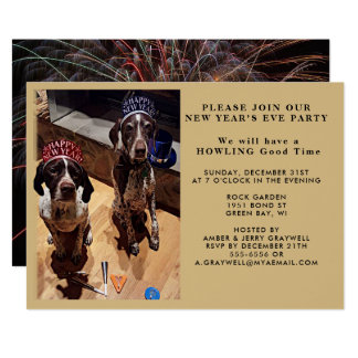 Party-Hunde-und Feuerwerk-Einladung Des Karte