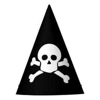 Party-Hut mit dem weißen Schädel u. den Partyhütchen