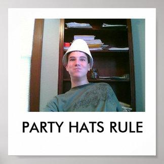 PARTY-HUT-REGEL POSTER