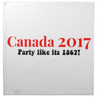 Party Kanadas 150 im Jahre 2017 mögen 1867 Serviette