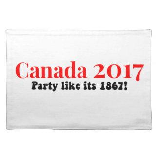 Party Kanadas 150 im Jahre 2017 mögen 1867 Stofftischset