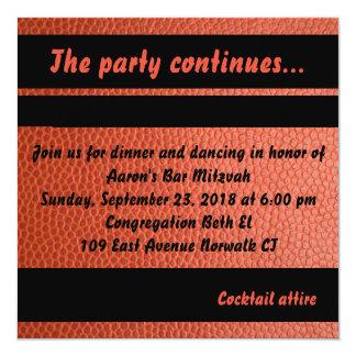 Party-Karte für Band-Bar Mitzvah Sammlung Quadratische 13,3 Cm Einladungskarte