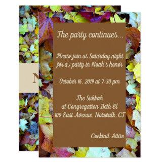 Party-Karte für Herbstlaub Mitzvah Karte