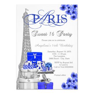 Party königliches Blau-Paris-Bonbon-16 11,4 X 15,9 Cm Einladungskarte