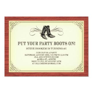 Party lädt alte Western-Einladungen auf 12,7 X 17,8 Cm Einladungskarte