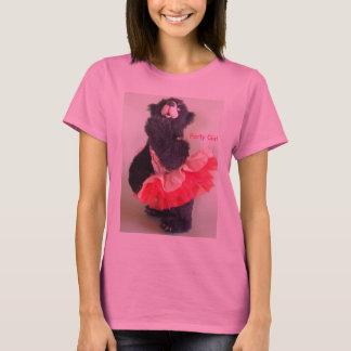 Party-Mädchen im Rosa - LS T-Shirt