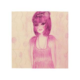 Party-Mädchen-Prallplatte im heißen Rosa Holzdruck