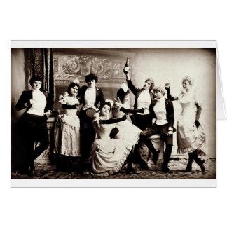 Party-Mädchen-Vintager Druck Karte