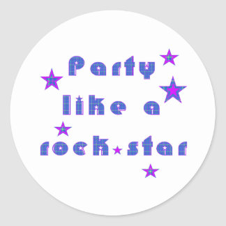 Party mögen ein RockSTAR Sticker