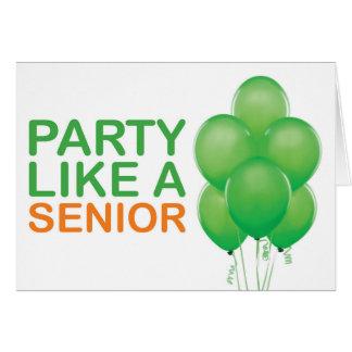 Party mögen eine ältere Geburtstags-Karte (Grün) Karte