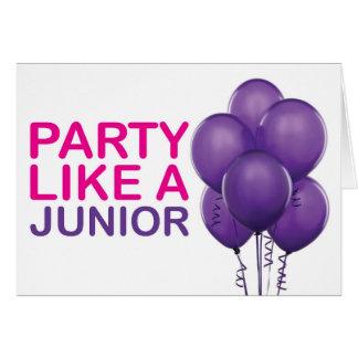 Party mögen eine Juniorgeburtstags-Karte Karte