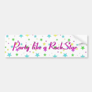 Party mögen einen RockStar Autoaufkleber
