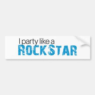 Party mögen einen Rockstar T - Shirt Autoaufkleber