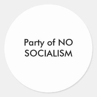 Party ohne SOZIALISMUS-Aufkleber