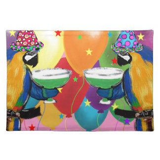 Party-Papageien Stofftischset