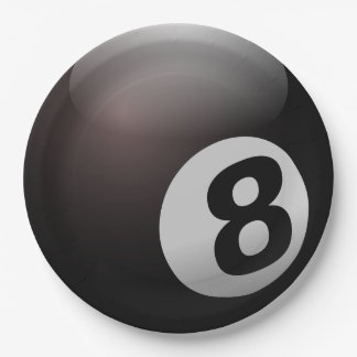 Party-Papier-Teller des Pool-8-Ball Pappteller