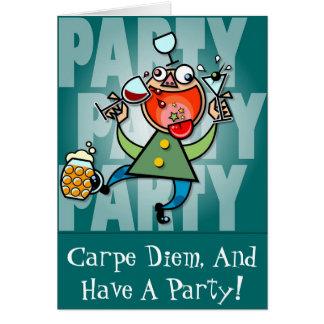 Party-Party Grußkarte