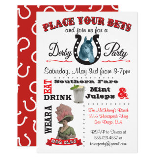 Party-Plakat-Einladung Kentuckys Derby Karte