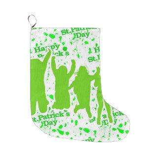Party-Plakat St. Patricks Tages Großer Weihnachtsstrumpf