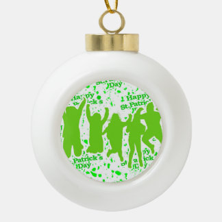 Party-Plakat St. Patricks Tages Keramik Kugel-Ornament
