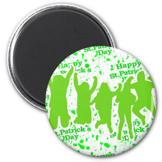Party-Plakat St. Patricks Tages Runder Magnet 5,1 Cm