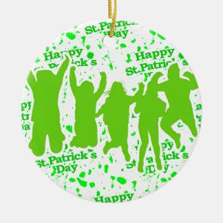 Party-Plakat St. Patricks Tages Rundes Keramik Ornament