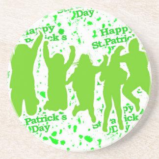 Party-Plakat St. Patricks Tages Sandstein Untersetzer