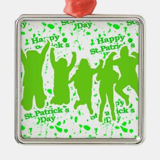 Party-Plakat St. Patricks Tages Silbernes Ornament
