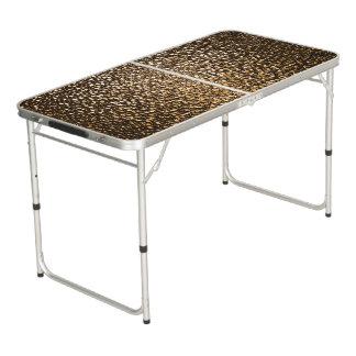 Party pong Tabelle mit festlichem Goldglas-Glitter Beer Pong Tisch