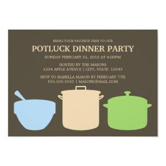 Party Potluck Abendessen-| laden ein 12,7 X 17,8 Cm Einladungskarte
