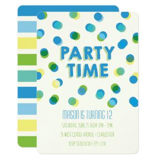 Party punktiert Kindergeburtstag-Einladung 12,7 X 17,8 Cm Einladungskarte